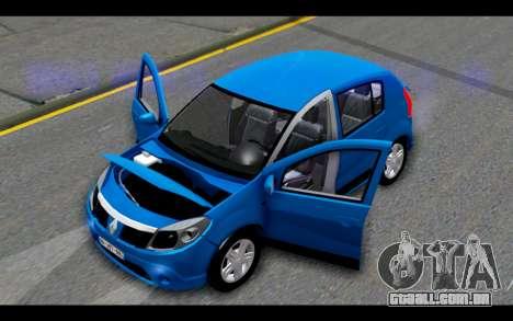 Renault Sandero para vista lateral GTA San Andreas