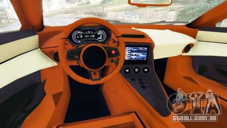 GTA 5 Jaguar C-X75 traseira direita vista lateral
