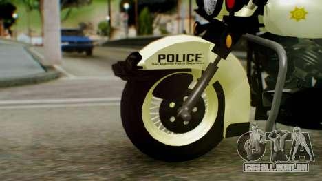 New Police Bike para GTA San Andreas traseira esquerda vista
