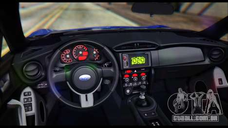 Subaru BRZ STi Concept 2016 para GTA San Andreas vista interior