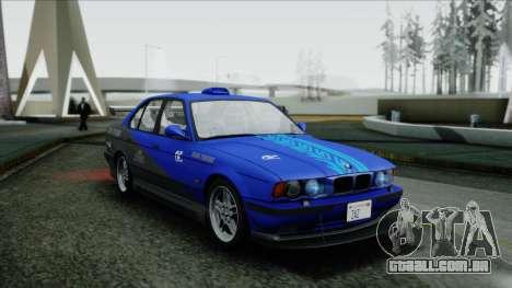 BMW M5 E34 US-spec 1994 (Full Tunable) para vista lateral GTA San Andreas