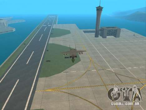 O MiG 25 para GTA San Andreas vista interior