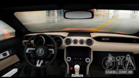 Ford Mustang Shelby GT350R 2016 para GTA San Andreas traseira esquerda vista