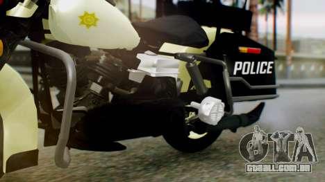 New Police Bike para GTA San Andreas vista direita