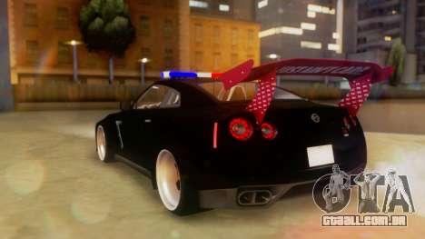 Nissan GT-R Police Rocket Bunny para GTA San Andreas esquerda vista