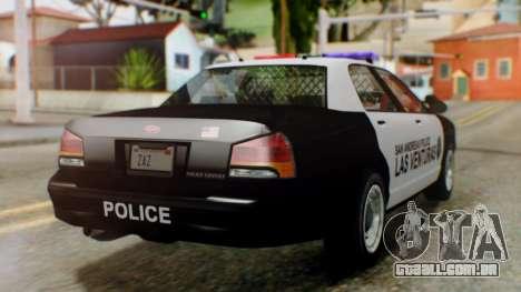 GTA 5 Police LV para GTA San Andreas esquerda vista