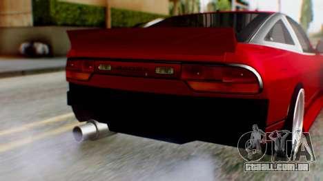Nissan 240SX Drift v2 para GTA San Andreas vista traseira
