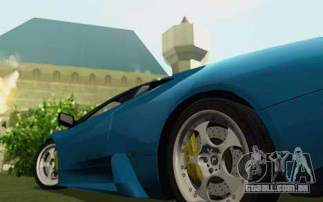 Lamborghini Murcielago 2005 para GTA San Andreas traseira esquerda vista