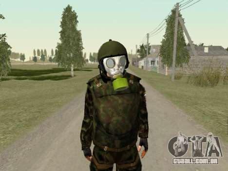 Os soldados russos na máscara de gás para GTA San Andreas