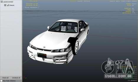 GTA 5 Nissan 200sx S14 Kouki vista lateral direita