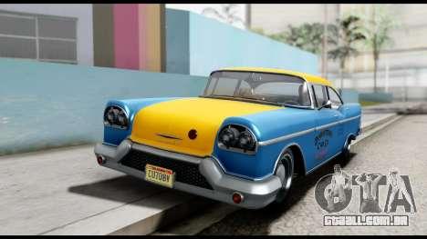 GTA 5 Declasse Cabbie v2 para GTA San Andreas vista direita