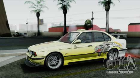 BMW M5 E34 US-spec 1994 (Full Tunable) para GTA San Andreas vista inferior