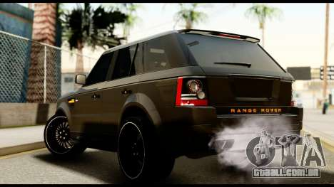 Range Rover Sport 2012 para GTA San Andreas esquerda vista