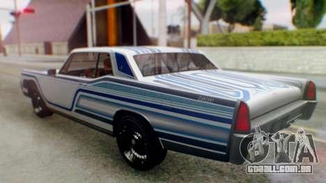 GTA 5 Vapid Chino Tunable para GTA San Andreas interior