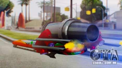 Flying Hovercraft New Skin para GTA San Andreas esquerda vista