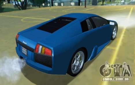 Lamborghini Murcielago 2005 para vista lateral GTA San Andreas