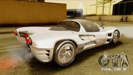Ferrari P7 Spyder para GTA San Andreas traseira esquerda vista