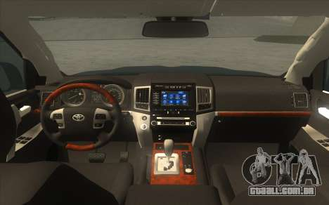 Toyota Land Cruiser 200 2016 para GTA San Andreas traseira esquerda vista