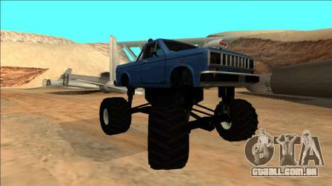 Bobcat Monster Truck para GTA San Andreas vista traseira