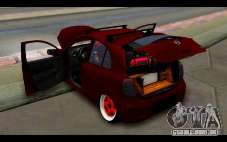 Nissan March 2011 Hellaflush para GTA San Andreas vista inferior