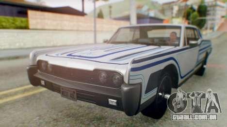 GTA 5 Vapid Chino Tunable para GTA San Andreas vista inferior