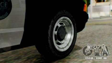 GTA 5 Police LV para GTA San Andreas traseira esquerda vista