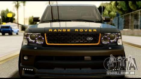 Range Rover Sport 2012 para GTA San Andreas vista direita
