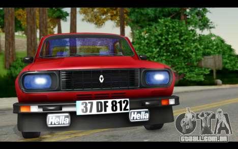 Renault 12 Toros para GTA San Andreas traseira esquerda vista