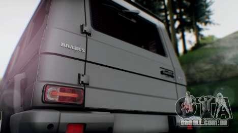 Brabus B55 para GTA San Andreas vista traseira