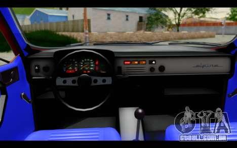 Renault 12 Toros para GTA San Andreas vista interior