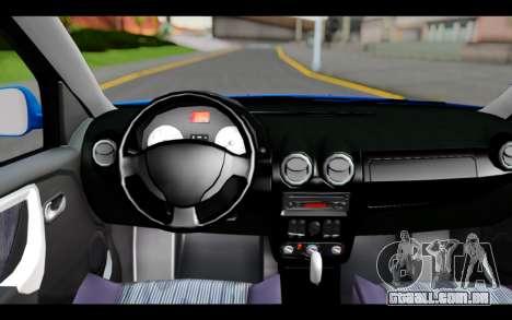 Renault Sandero para GTA San Andreas vista direita