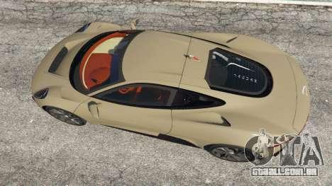 GTA 5 Jaguar C-X75 voltar vista