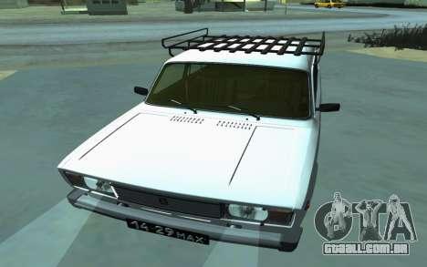 VAZ 2105 para GTA San Andreas para GTA San Andreas vista traseira