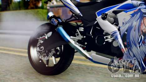 Yamaha YZF R-25 Kos-Mos Xenosaga Itasha 2014 para GTA San Andreas vista direita
