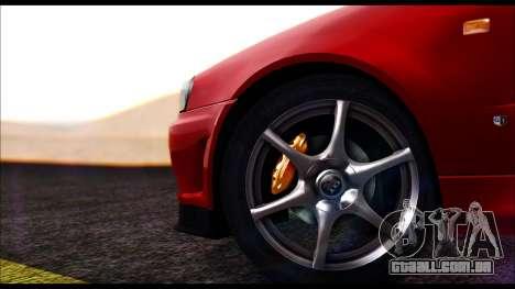 Nissan Skyline R-34 GT-R V-spec 1999 No Dirt para GTA San Andreas traseira esquerda vista