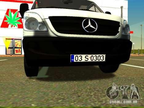 Mercedes-Benz Sprinter Long para GTA San Andreas vista interior
