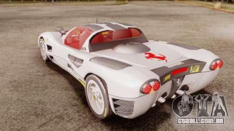 Ferrari P7 Horse para GTA San Andreas traseira esquerda vista
