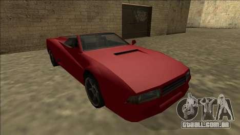 Cheetah Cabrio para GTA San Andreas vista interior