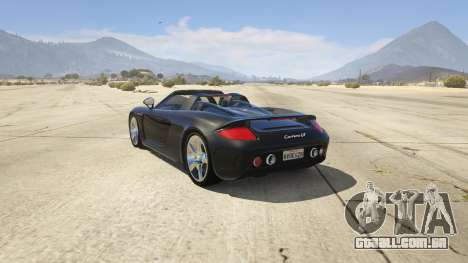 GTA 5 Porsche Carrera GT 2.0 traseira vista lateral esquerda