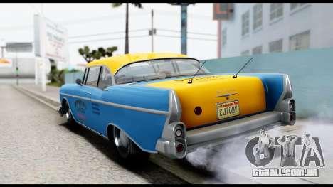 GTA 5 Declasse Cabbie v2 para GTA San Andreas esquerda vista