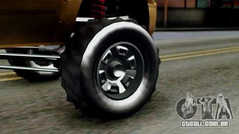 GTA 5 Vapid Sandking XL para GTA San Andreas traseira esquerda vista