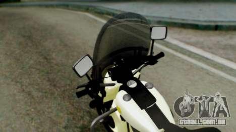 New Police Bike para GTA San Andreas vista traseira