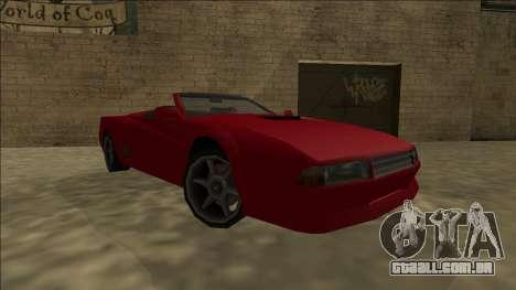 Cheetah Cabrio para GTA San Andreas traseira esquerda vista