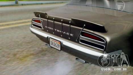 GTA 5 Imponte Nightshade IVF para GTA San Andreas vista traseira