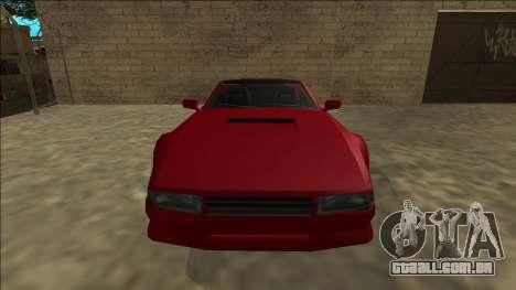 Cheetah Cabrio para GTA San Andreas vista traseira