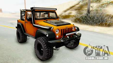 Jeep Wrangler Off Road para GTA San Andreas vista traseira