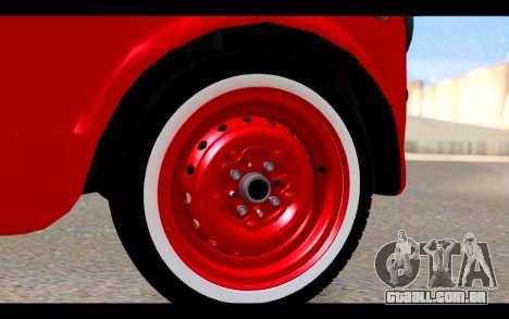 Zastava 750 - The Cars Movie para GTA San Andreas vista direita