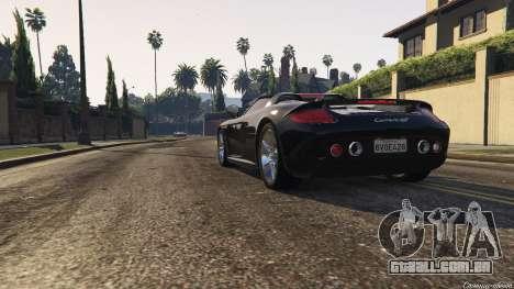 GTA 5 Porsche Carrera GT 2.0 voltar vista
