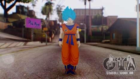 Goku SSJ God Blue (SSGSS) para GTA San Andreas segunda tela