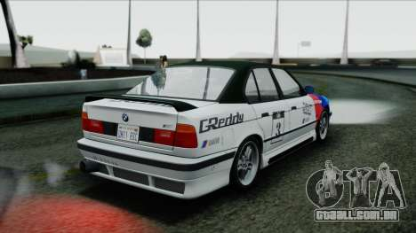 BMW M5 E34 US-spec 1994 (Full Tunable) para GTA San Andreas vista interior